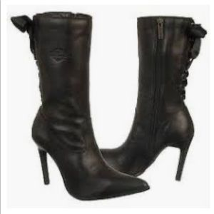 Harley Davidson NWOT healed lace up booties